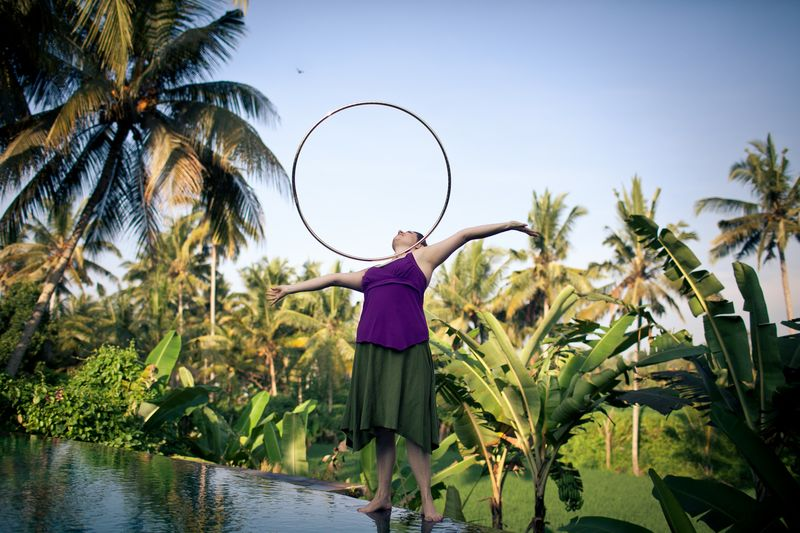 Custom Dance Hoop in Water Element Infinity Hula Hoop